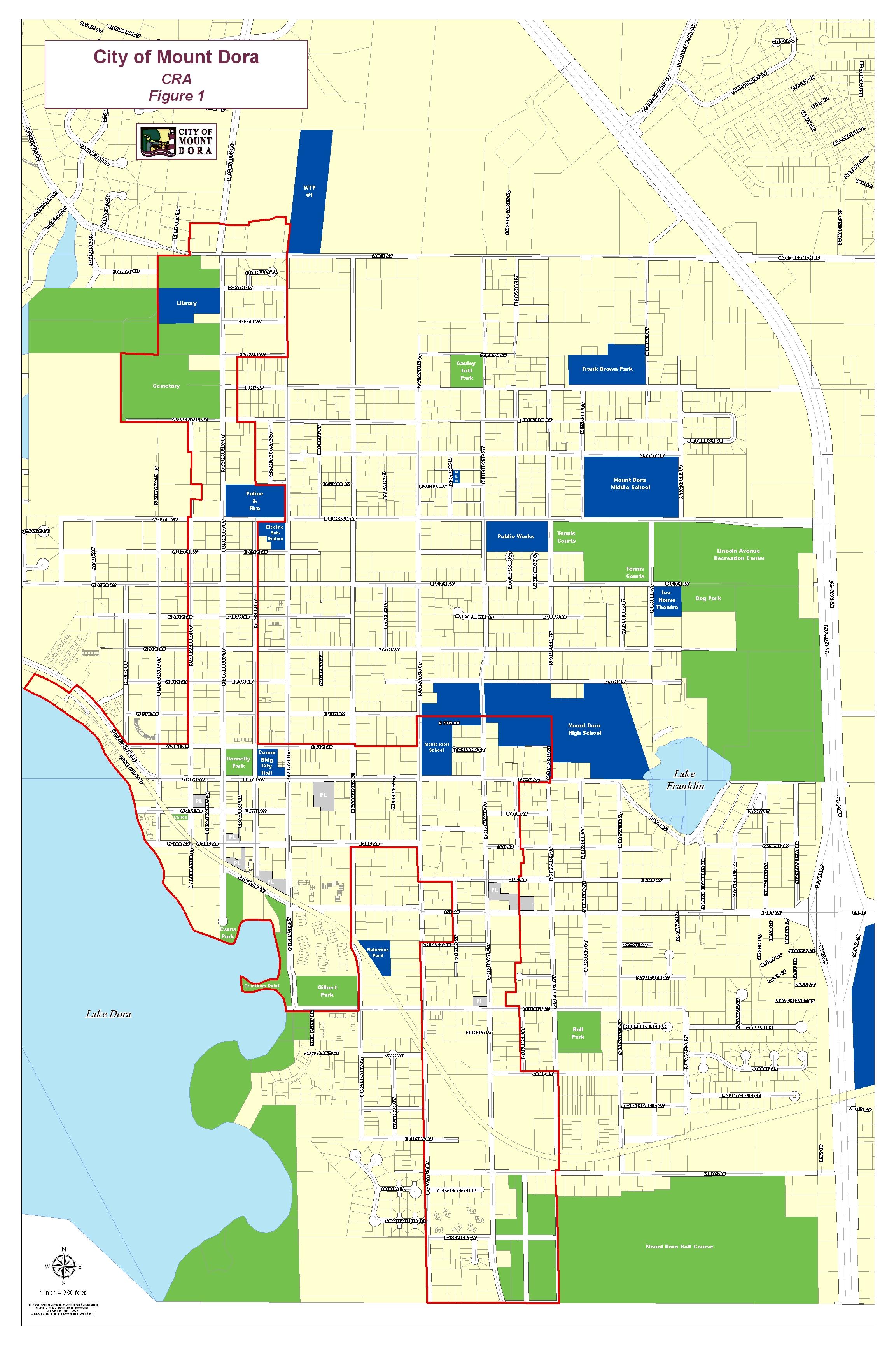 CRA District Map Mount Dora FL Official Website - Florida map mount dora
