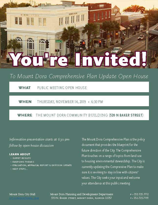 Comp Plan Update Open House Invite (ADA) rev