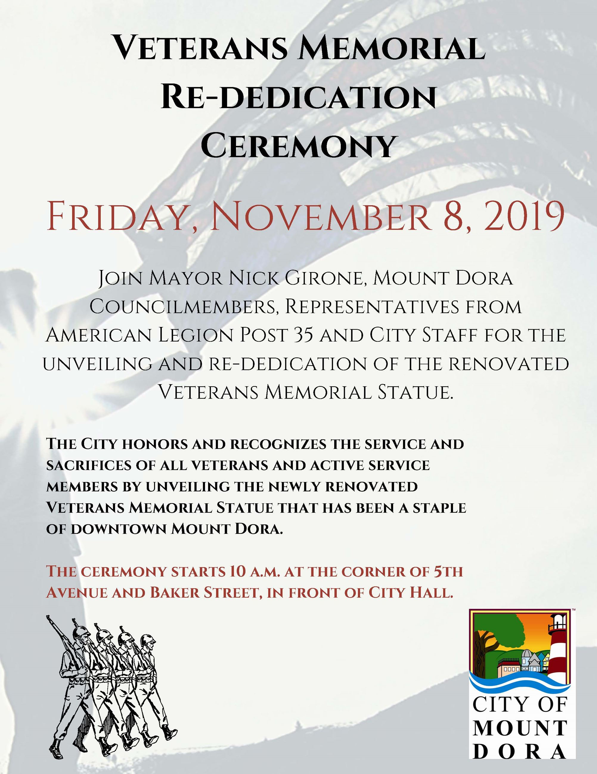 Veterans Memorial Rededication Invitation
