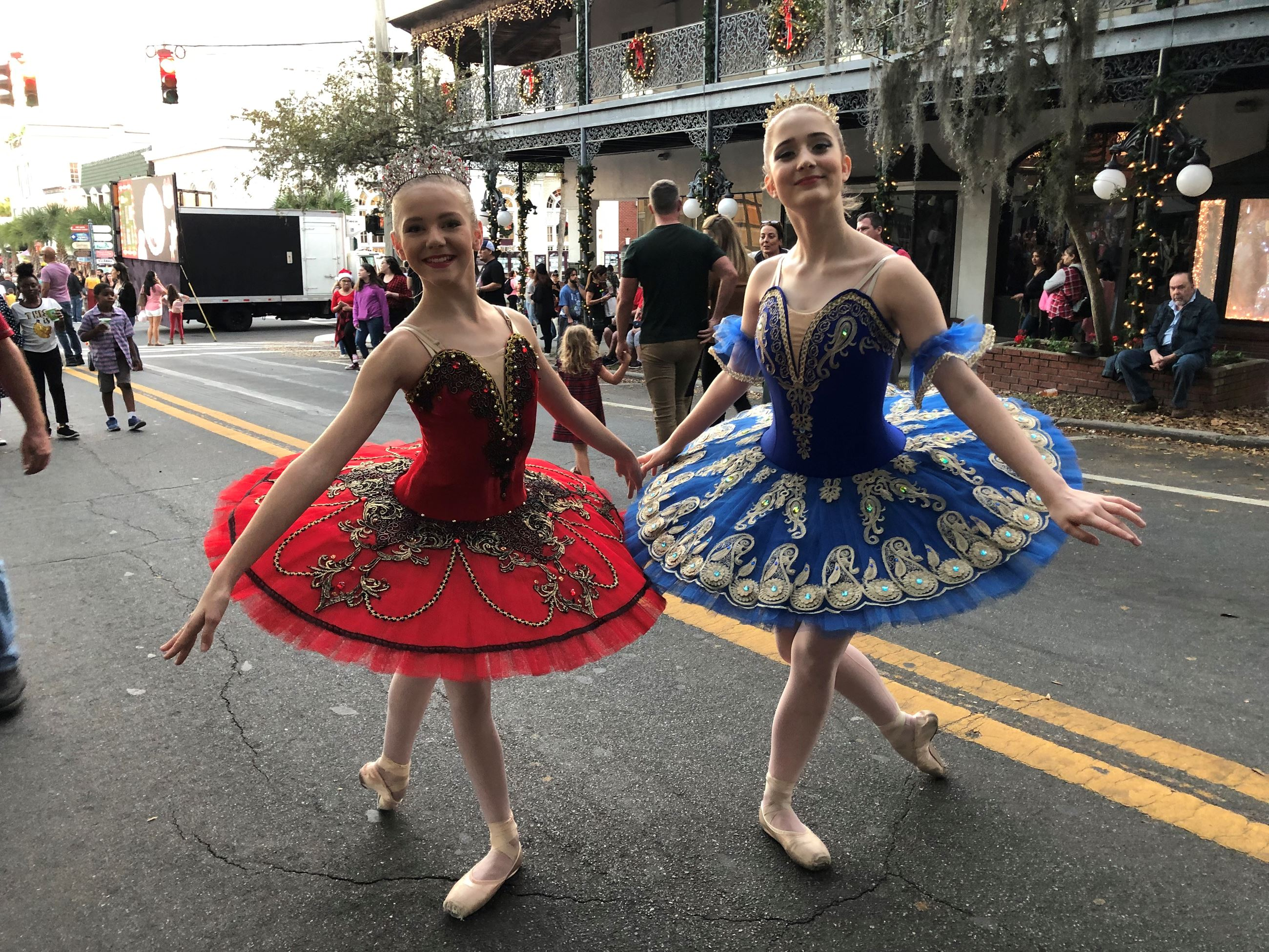 Nutcracker Ballerinas in the street
