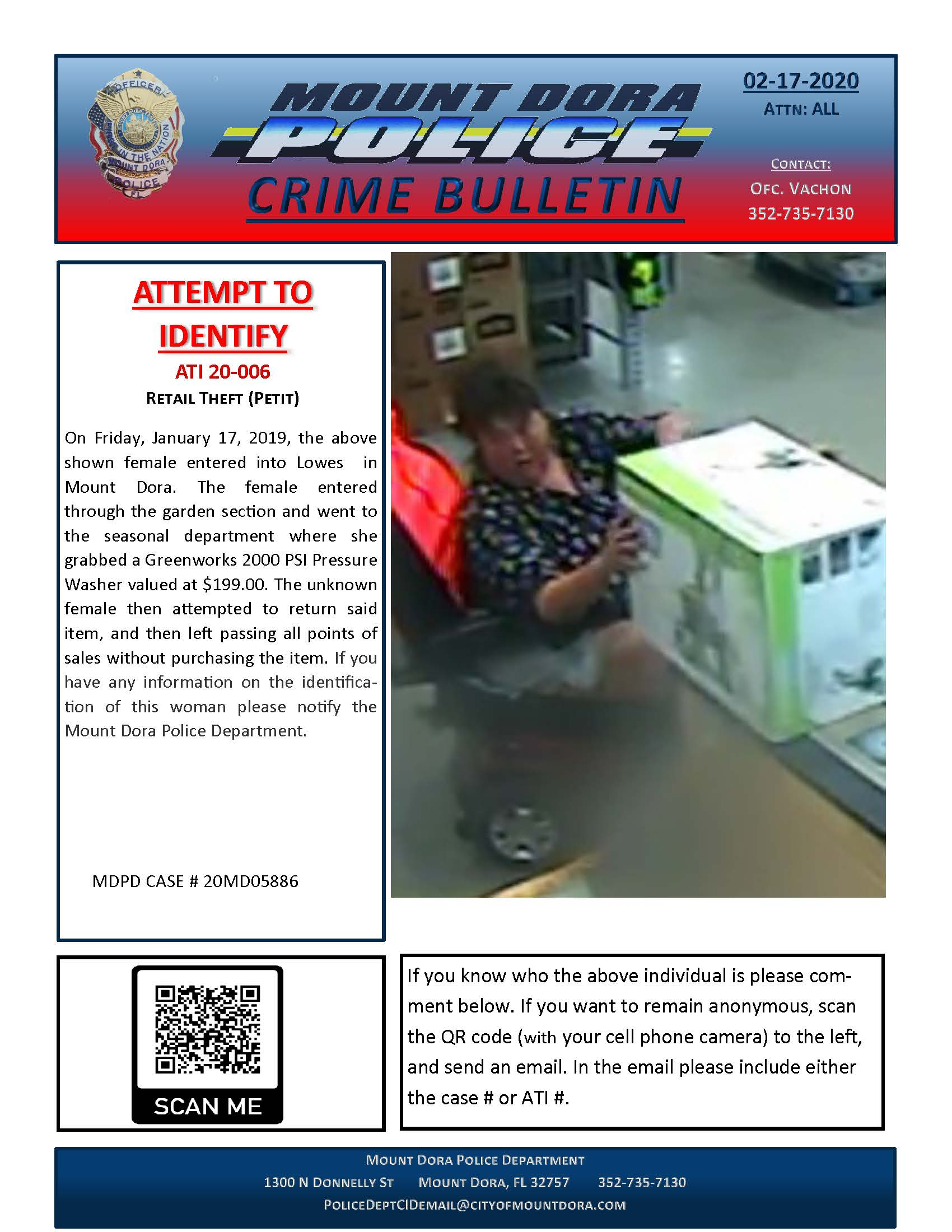 Retail theft at Lowes