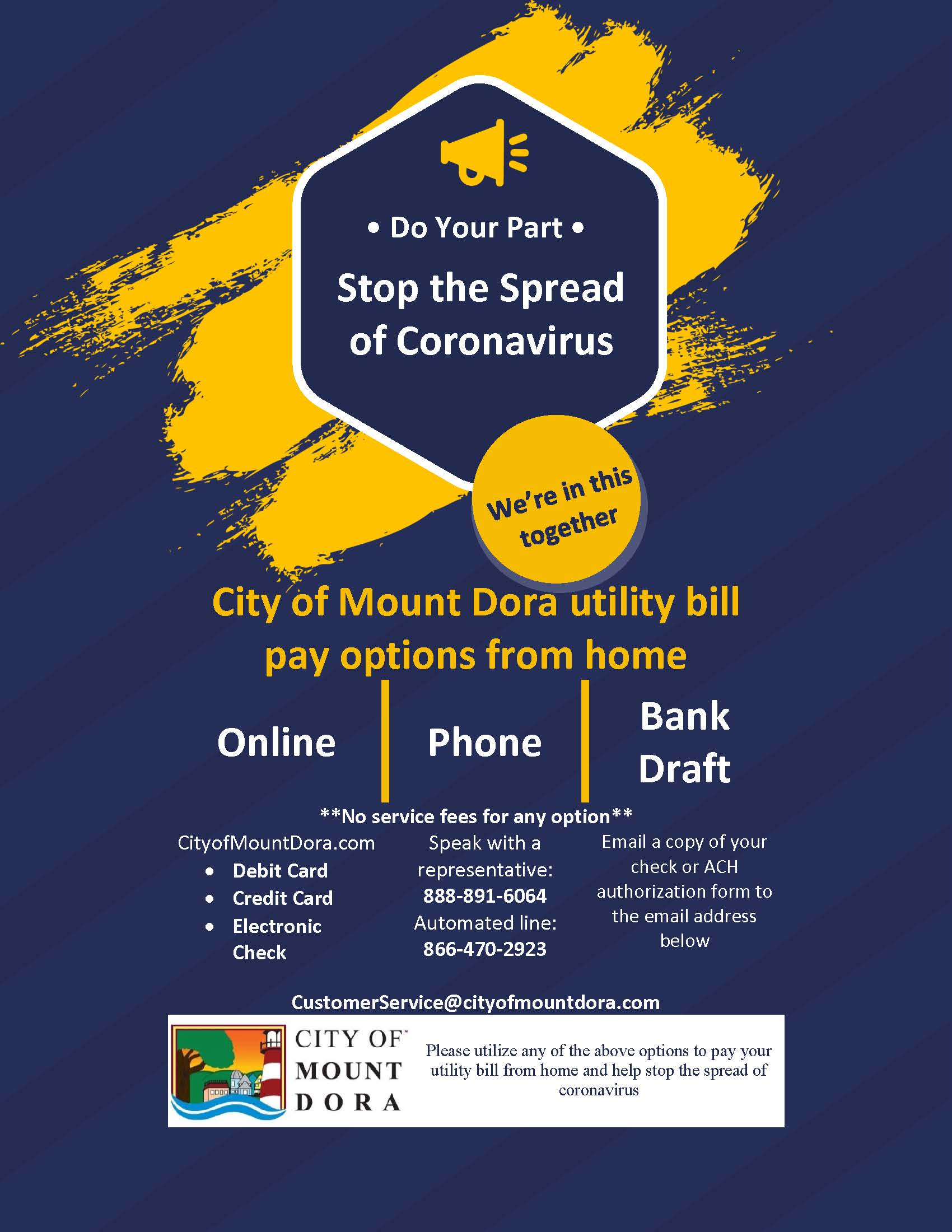 coronavirus payment options flyer