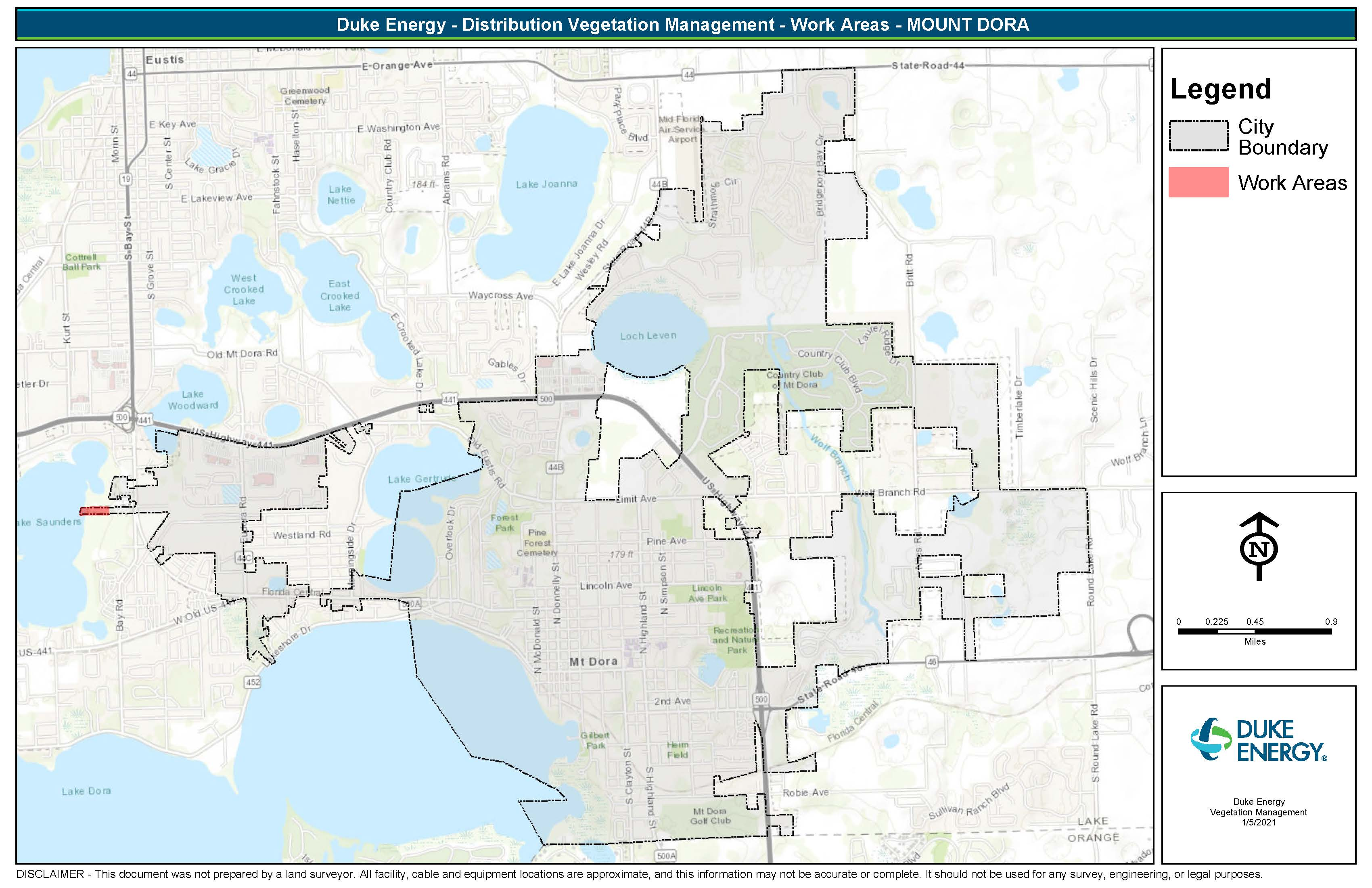 Duke Energy Tree Trimming Map
