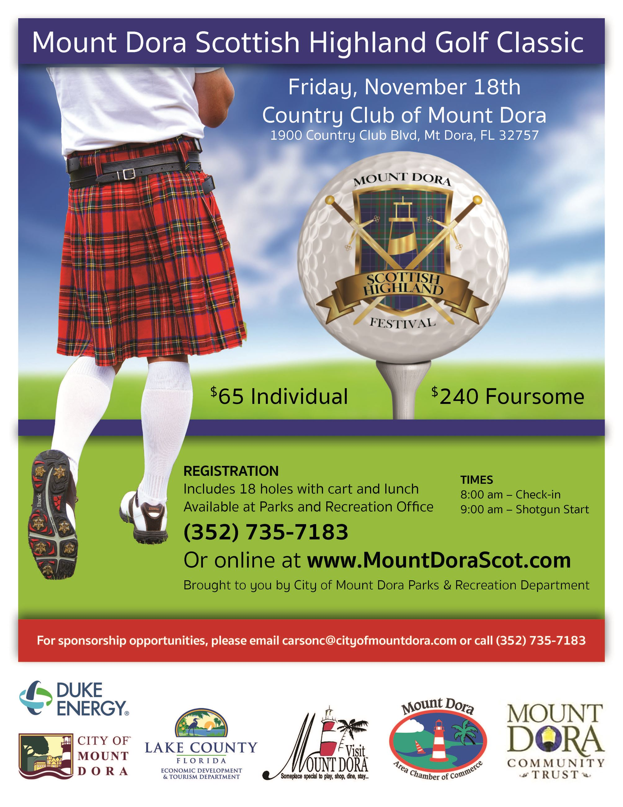 2016 Mount Dora Scottish Highland Classic Golf