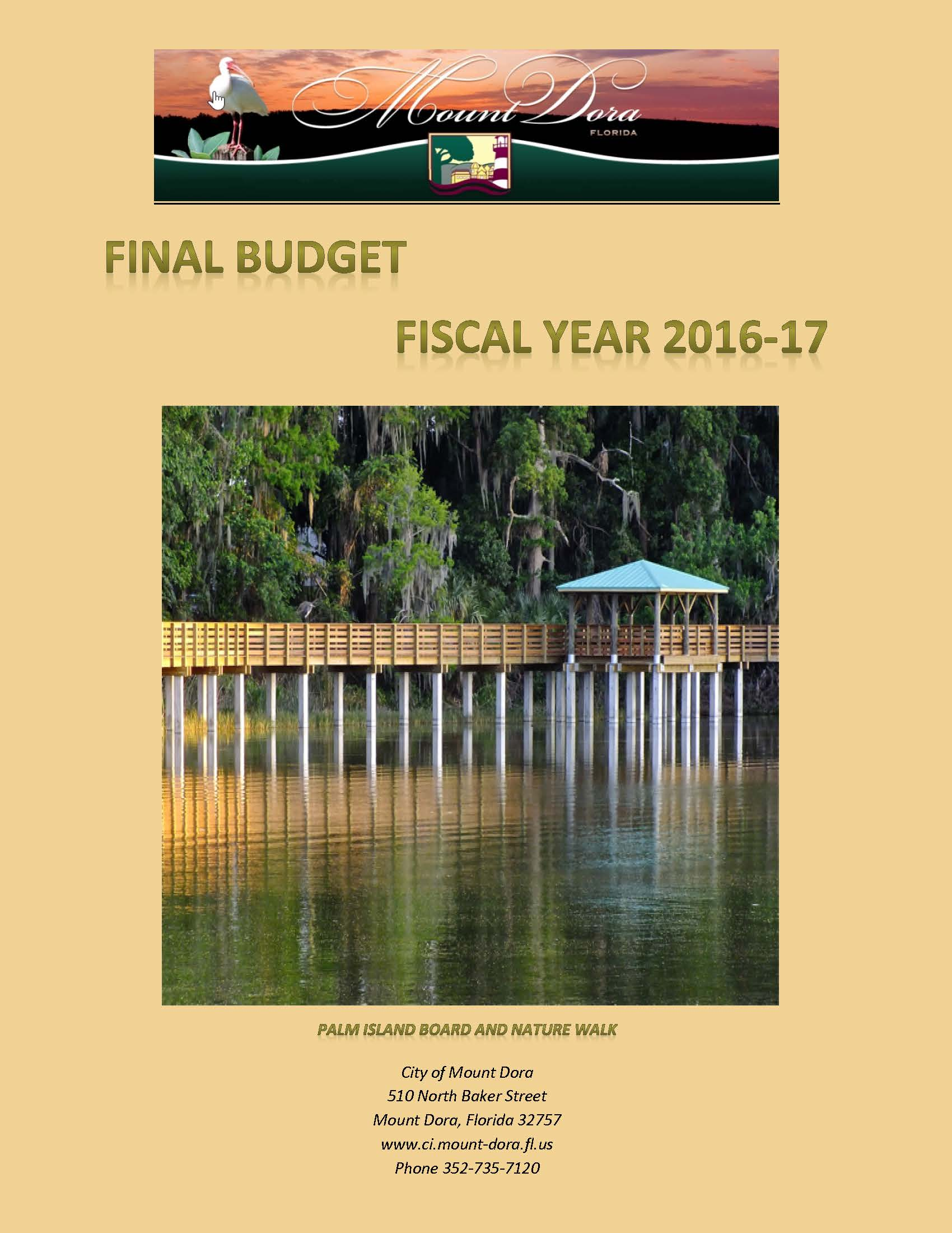 Fiscal Year 2016-17 Budget Document