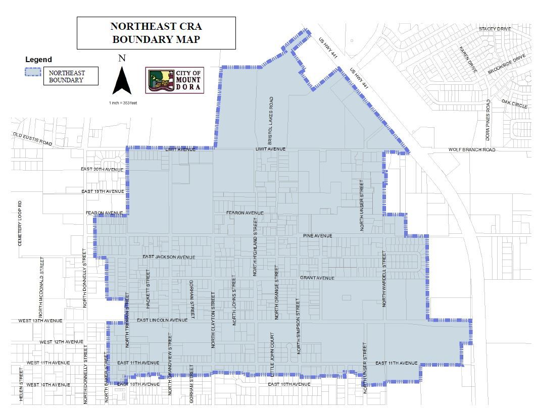 Northeast CRA Boundary Map
