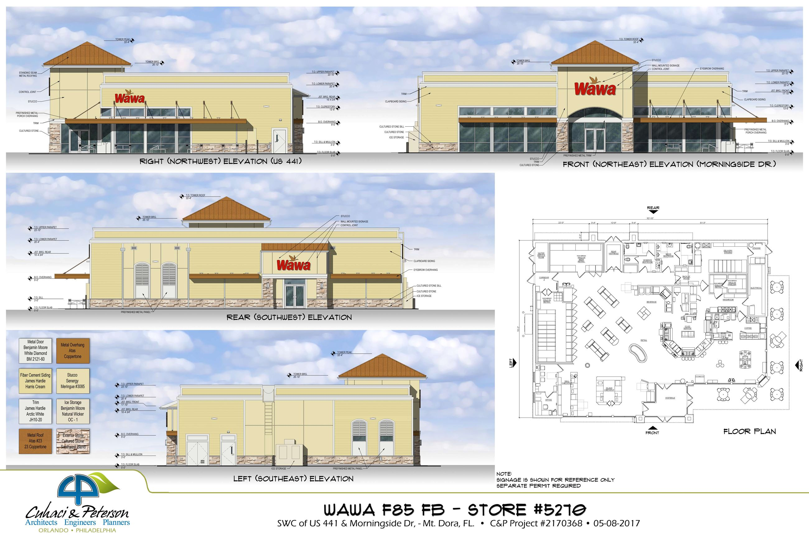 Wawa Ext Elev Rendering  Floor Plan