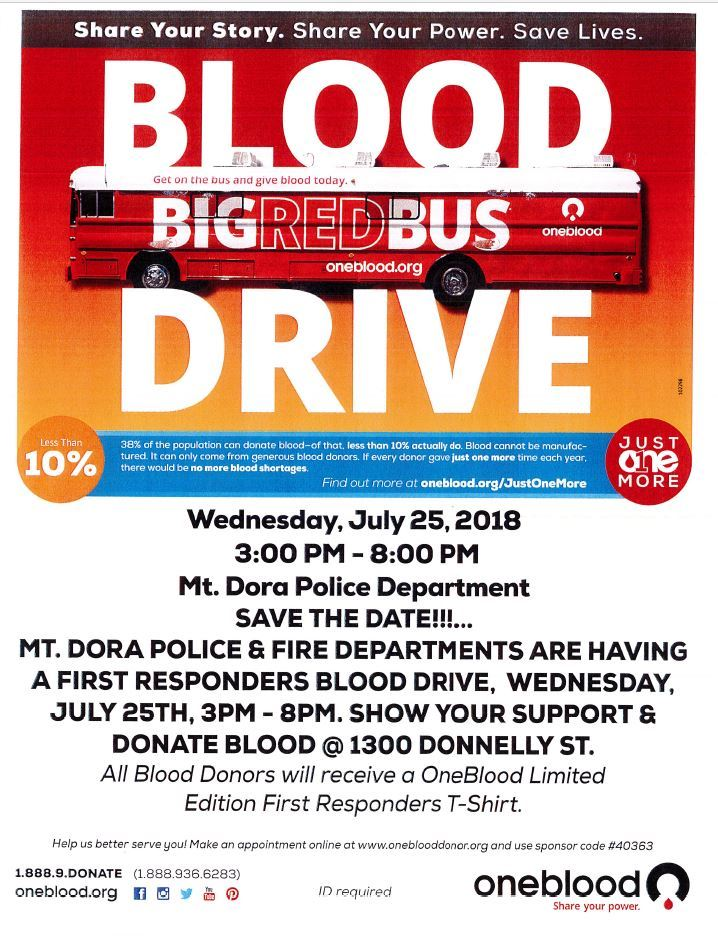 first responder blood drive flyer