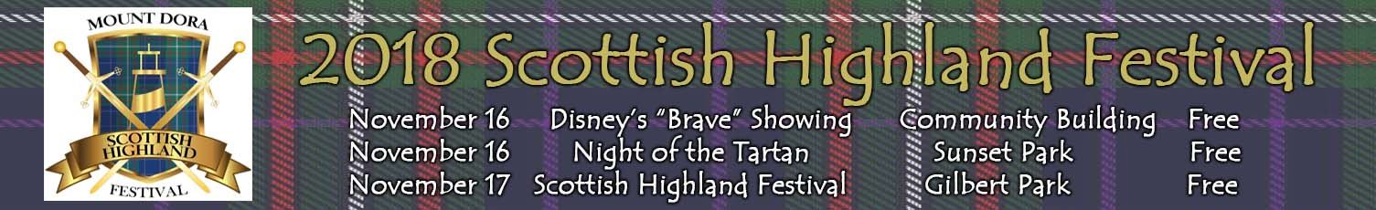 2018 Scotish Highland Festival Banner