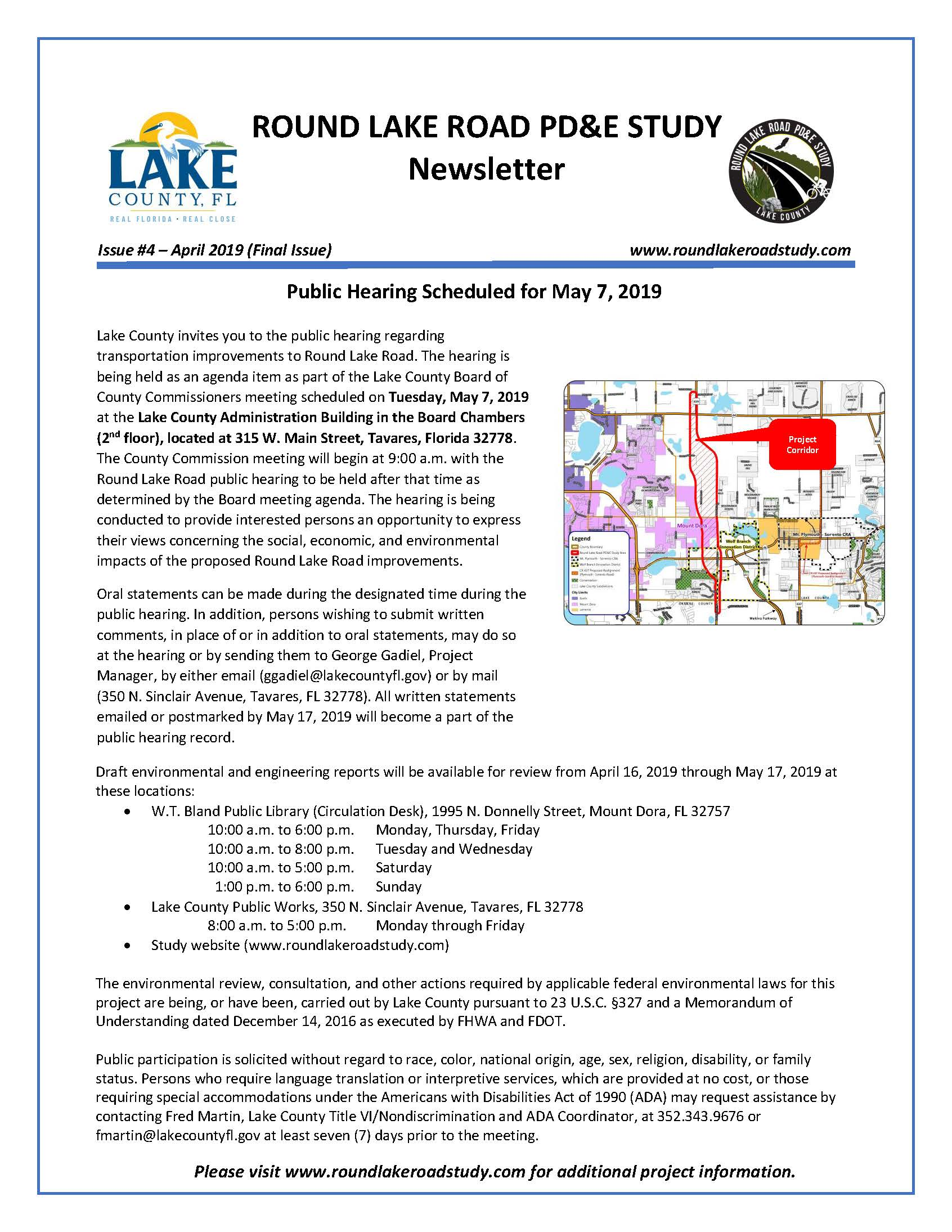 Round Lake Road -  Newsletter No. 4_Page_1