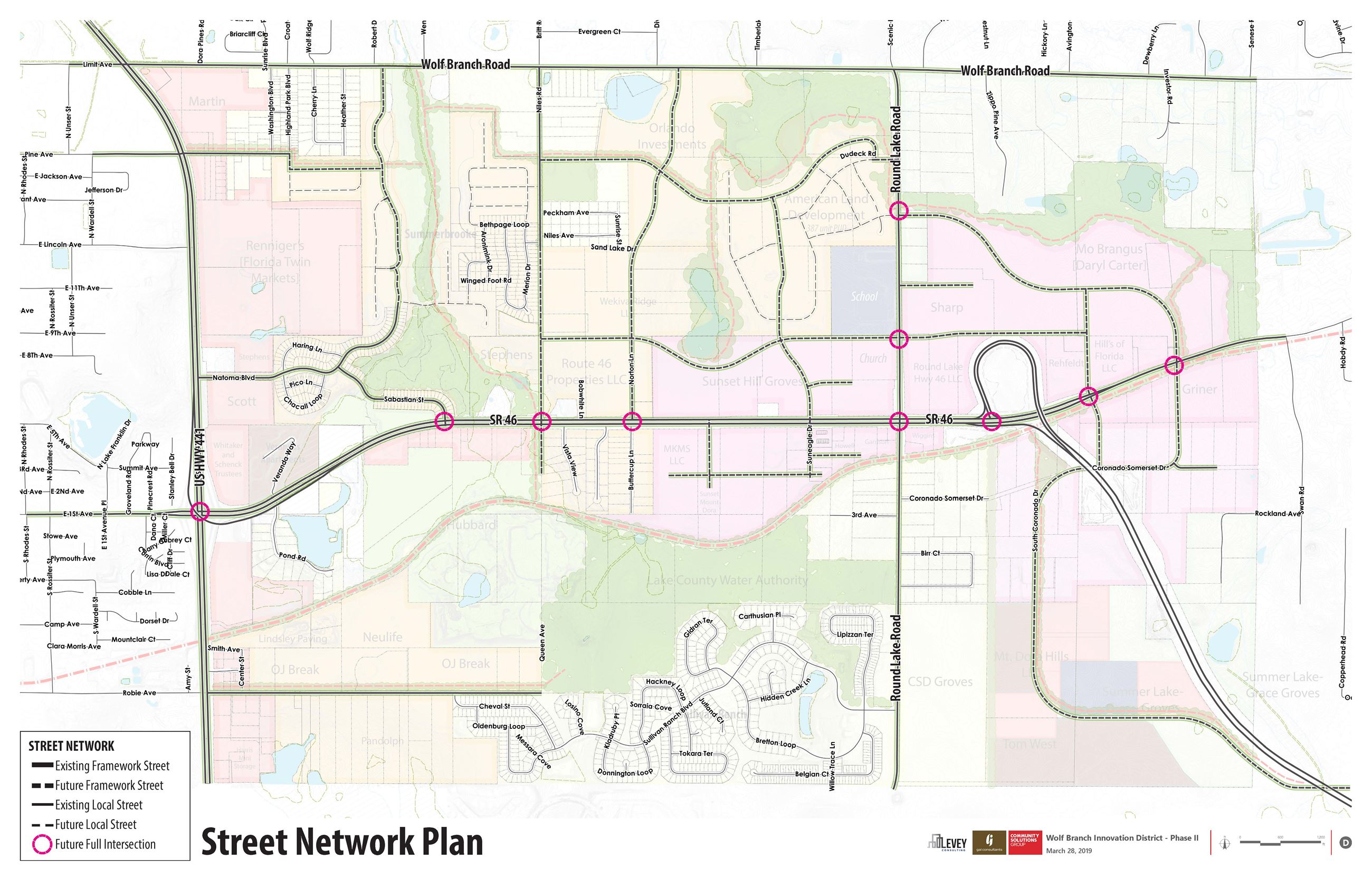 Wolf Branch Innovation District  Street Network Plan