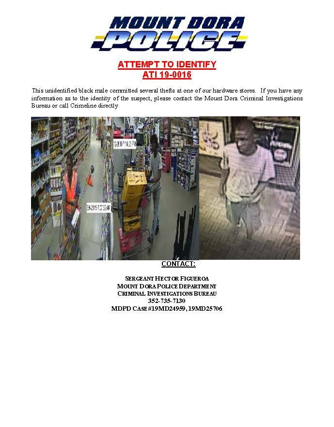 hardware store thief