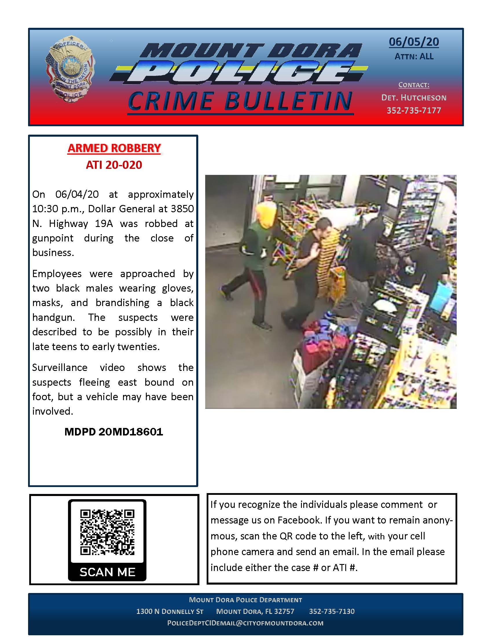 Dollar General Armed Robbery Crime Bulletin