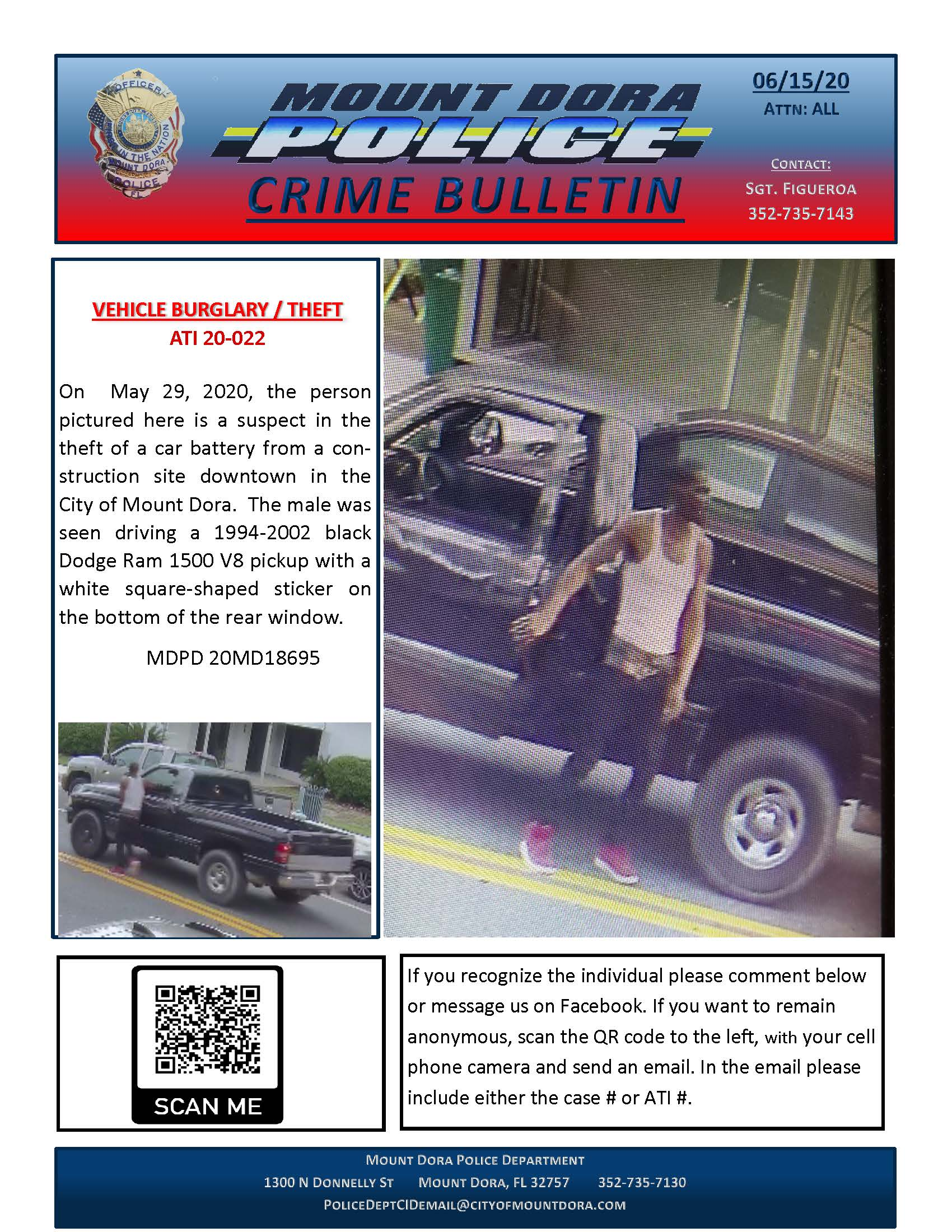 Car Battery Theft