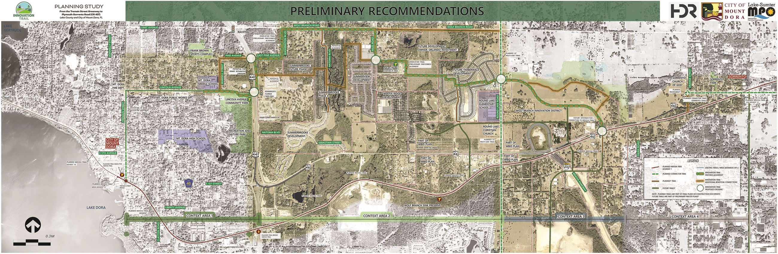 Innovation Trail Preliminary Recommendations Map