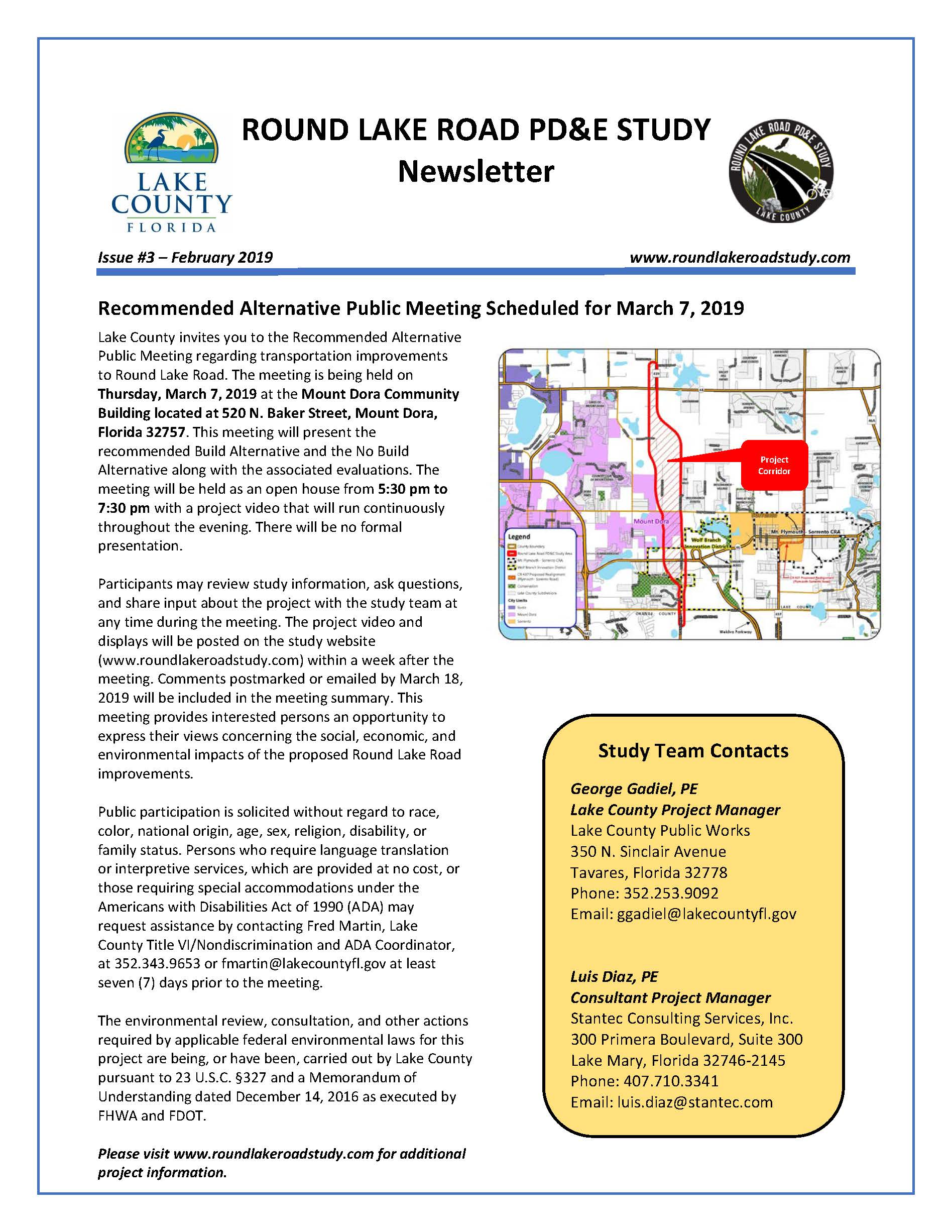 Round Lake Road PDE Study Newsletter No. 3_Page_1