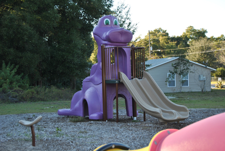 Lillie Park Playgroung Purple Dinosaur Slide