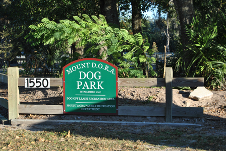 Lincoln Park D.O.R.A. Dog Park Sign